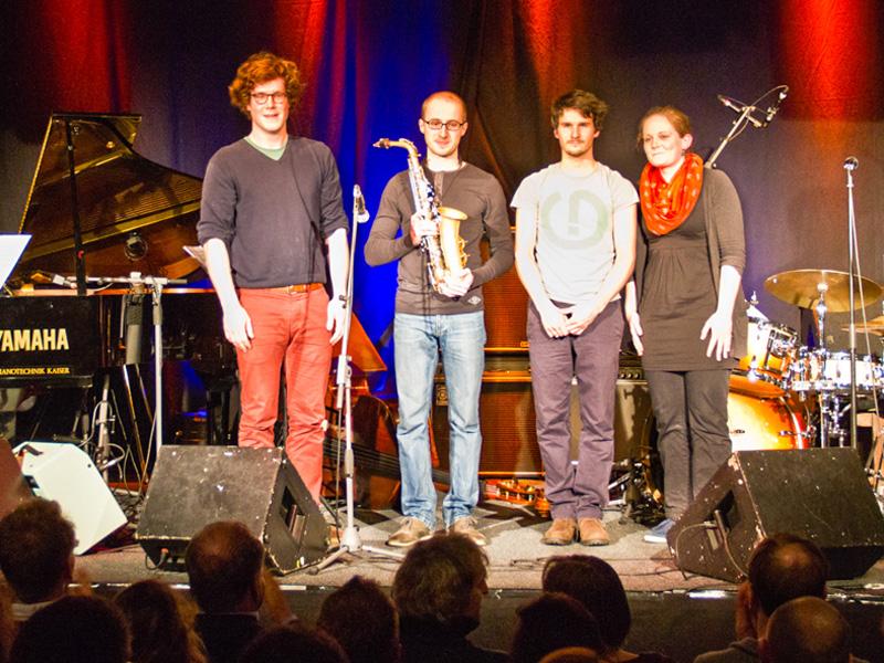 Junge Jazzmusiker:innen aus ganz Deutschland bewerben sich jedes Jahr für das jazz talentzz Festival in der Moritzbastei.